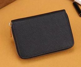 Wholesale Wallet M - M zipper short paragraph small wallet card package purse handbag wallet zipper cross pattern leather card purse purse