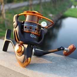 Wholesale Rod Reels - New 12+1Bearing Casting Spinning Fishing Reel Series Metal Rocker Reel Fly Fishing Line Wheel Fishing Rods