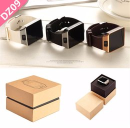 Wholesale Smart Watch Dz09 Watches Wrisbrand DZ09 Android iPhone Watch Smart SIM Intelligent Mobile Phone Sleep State Smart watch with Retail Package