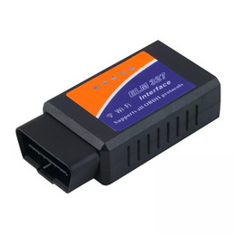 Wholesale Land Rover Smart Phone - Universal ELM327 WIFI WI-FI OBD2   OBDII OBD 2 II Auto Diagnostic Scanner Tool ELM 327 interface scan Tool for iPhone iPad smart phone PC