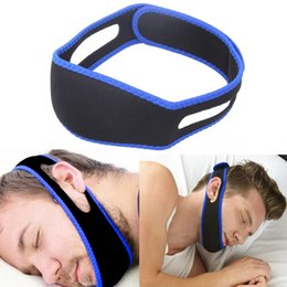 Wholesale Anti Snoring Chin Strap - Anti Snore Chin Strap Stop Snoring Snore Belt Sleep Apnea Chin Support Straps for Woman Man Health care Sleeping Aid Tools OOA2134
