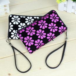 Wholesale White Floral Clutch - Ladies Cartoon Cute Fabrics Creative Bags Coin Bags Fashion Coin Purse Packs wallet women bags handbags