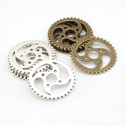Wholesale Steampunk Pieces - Wholesale- Jewelry Gear Vintage Style Metal Alloy Big Steampunk gears Jewelry Trendy Findings Charms 7801 12 pieces lot 40mm