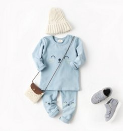 Wholesale Embroidery Designs For Kids - Hot Seller Design In Autumn Or Winter For Baby Kids Infant Pajamas Embroidery 100% Cotton Three Colors