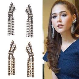 Wholesale Statement Stud Earrings - New Brand Claw Crystal statement Stud earrings for women Fashion rock jewelry Rhinestone Tassel earrings pendant Vintage Brincos Bijoux