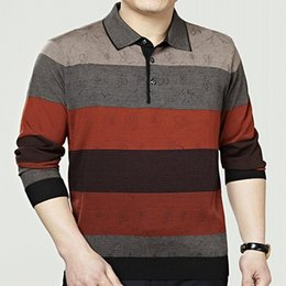 Wholesale New Men Fashion Look - Wholesale- New Fashion Style high Quality Casual male turn down collar Sweaters Fleece Thicken Full Sleeve Slim Looking Warm Men Pullovers