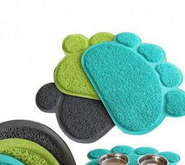 Wholesale Pet Feeding Mats - Paw Shape Pets Feet Mat Placemat PVC Radiating Dog Cats Sleeping Feeding Pads