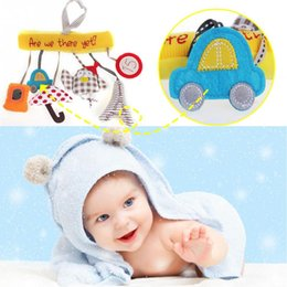Wholesale baby toy mirrors - Wholesale- 2016 Baby Toys Hanging Toy Stroller Bird Plush Doll Music Hanging Bed Bell With Sound Paper & Mirror