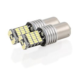 Wholesale Canbus Error Free - 1156 1157 Canbus Error Free LED Bulbs White 4014 45SMD DC 12V Reversing lights Auto Turn Signal Light brake light