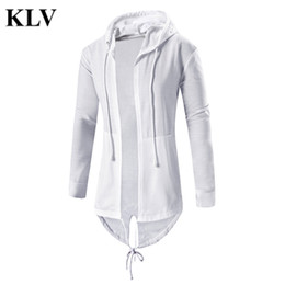 Wholesale Overcoat Hoodie Men - Wholesale- Men Fashion Autumn Winter Solid Irregular Cardigan Hoodie Coat Trench Casual Slim Fit Cloak Tops Blouse Outwear Overcoat Nov15