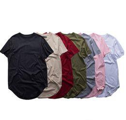 Wholesale Army Women Clothing - Fashion men extended t shirt longline hip hop tee shirts women justin bieber swag clothes harajuku rock tshirt homme free shipping
