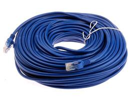 Wholesale Cat5 Rj45 Ethernet Network Patch - Wholesale- New Arrival Durable 50M 164FT RJ45 For CAT5 10M 100M Ethernet Internet Network Patch LAN Cable Cord For Computer Laptop
