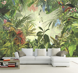 Wholesale Rain Weave - Cutom 3D wall paper mural on the wall wholesale tropical rain for office restaurant living room meeting room