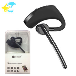 Wholesale Box Earphones - Hhigh Quality Bluetooth headphone Headset CSR4.2 Business Stereo Earphones With Mic Wireless Universal Voice Earphone with Box Package