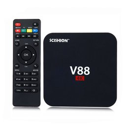 Wholesale Cheap Wholesale Quads - Android 6.0 V88 tv box Cheapest RK3229 Quad-Core 1GB 8GB Smart Tv Box WiFi 3D HDMI TV Cheap Set-top Box Media Player OTH036