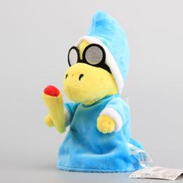 Wholesale Mario Kamek - Hot Sale 7' 18cm Super Mario Magikoopa Kamek Plush Toy Stuffed Dolls For Baby Gifts