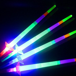Wholesale Telescopic Light Stick - Flash Light Stick Electronic Luminous Rod Concert Performance Party Props Telescopic Fluorescent Wand Night Market Hot Sell 1 79sc F R