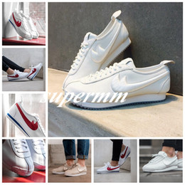 Wholesale Vintage Running Shoes - 2017 Top quality Wmns Cortez '72 Retro Cortez Women Red White Apricot Classic Vintage Sneakers Trainers Jogging Running Shoes Size 36-39