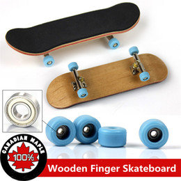 Wholesale Wood Black Bear - Professional Type Bearing Wheels Skid Pad Maple Wood Finger Skateboard Alloy Stent Bearing Wheel Fingerboard Novelty Toy