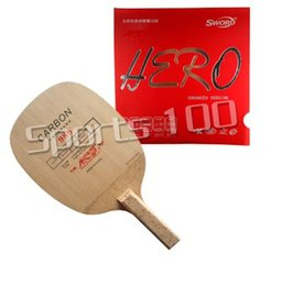 Wholesale Combo Table - Wholesale- Table Tennis Racket Pro Combo Paddle Yinhe 988 Blade with Sword Hero Rubber