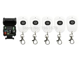 Wholesale Rf Control Channel - Wholesale-AC 220 V 1 channel RF mini Wireless Remote Control 1 * Receiver & 5* Transmitter 315 mhz or 433 mhz