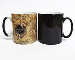Wholesale Heat Friendly - Harry Potter Marauder Map Color Changing cup mug Magic heat sensitive Coffee Mug Tea Cup gift Free Shipping