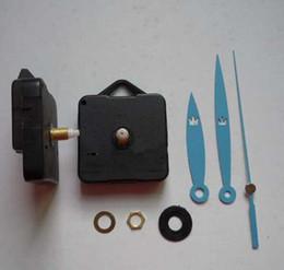 Relojes de pared azul online-Accesorios de reloj de bricolaje azul Movimiento de cuarzo Mejores piezas de mecanismo Accesorios Accesorios de reloj Reloj silencioso Pared decorativa