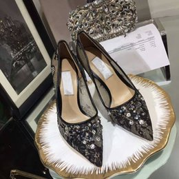 Wholesale Auger Pump - Top designers high-end customization luxury leather fashion elegant high quality Set auger women's high-heeled shoes( high-heel 5or10 cm)