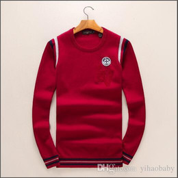 Wholesale Best Brand Sweaters - Have logo ! New Fashion Women men Knitting sweater Jacket male Sweatshirts stripe Tops Brand Unisex Casual Warm coat best quality