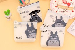 Wholesale Silicone Ladies Handbags - Wholesale- CUTE NEW 4Models Silicone 10CM TOTORO Coin Purse Wallet Pouch Case BAG Women Lady Bags Pouch Makeup Case Holder BAG Handbag