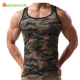 Wholesale Tank Tops Styles For Men - Wholesale- 2016 New Arrival Tank Tops For Men Fashion Army Style Camouflage Color Tank Top Tight Fitness Men High Quality Brand-Clothing