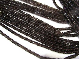 Wholesale Loose Smoky Crystal - AA+ Genuine 2x5mm 16inch Smoky Quartz Citrine Quartz Wheel PinWheel Heishi Faceted Yellow Rock Crystal Jewelry Loose Beads
