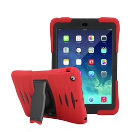 Wholesale Baby Tablets - For iPad 2 3 4 5 6 Air Air2 Pro 9.7 Case Retina Kids Baby Safe Armor Shockproof Heavy Duty Silicone Back Case Cover For iPad mini Tablet PC