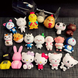 Wholesale Silicone Women Doll - Hot sale Cartoon cute clown cat doll keychain creative couple key chain car pendant KR048 Keychains mix order 20 pieces a lot