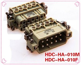 Wholesale Electrical Connectors Free Shipping - Free shipping overloading connector HDC-HA-010M 10 core HDC-HA-010M connector hdc-ha-010m 10 CORE HA-010M