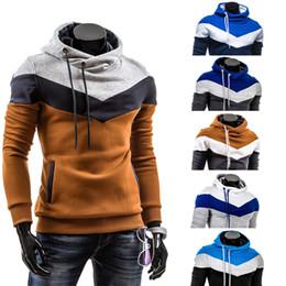 Wholesale Long Coat Design Men - Fashion Hoodies Men Sportwear 2016 Design Casual Hoodie Sweatshirt Long Sleeve Hooded Coat Slim Fit Patchwork Autumn Hoodie Pullovers M-XXXL