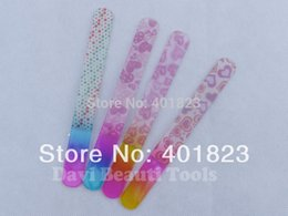 Wholesale Big Foot Art - Wholesale- 10Pcs lot Durable Crystal Glass Nail File nail Art big size 6 new patterns glass foot rasp Tool FREE SHIPPING #GN-10135