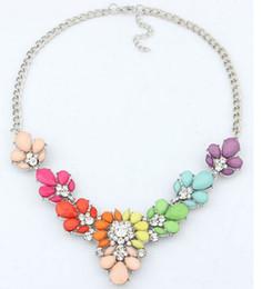 Wholesale Bib Necklaces For Women - 2016 New 3 Colors Crystal Statement Necklace Choker necklaces & pendants For Woman Bib Chorker Necklaces Women Jewelry wholesale