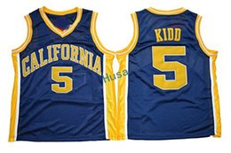 Wholesale Mesh Basketball Shorts - New Throwback California Golden Bears Jason Kidd College Jerseys #5 Jason Kidd Navy Blue Cheap Retro Mesh Stitched University Jerseys
