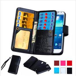 Canada Portefeuille en cuir PU de carte magnétique amovible détachable rétro Flip Cover pour iphone x 8 7 plus 6 6s plus 5s samsung note 8 s9 s9 plus s8 supplier magnetic flip cover for iphone 5s Offre