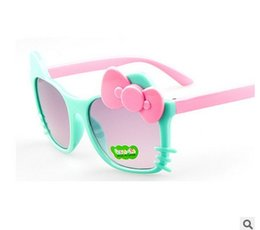 Wholesale New Kitty - Wholesale Fashion Cartoon Cat Boys girls Children Protect Sunglasses New Kids Star Hello kitty Eyewear Spectacles Free shipping