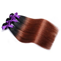 Ombre Brazilian Straight Hair Bundles 1B 33 Human Hair Weave Shining Star Two Tone Dark Brown Ombre Hair Extension 3 or 4 Bundles Coupons