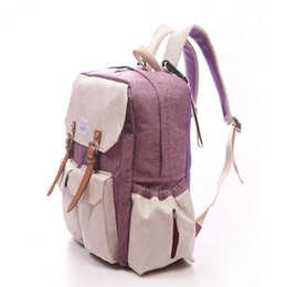 Wholesale Baby Ladies Diapers - Wholesale-New diapering bags Backpack mummy portable multifunctional baby diaper bag baby large storage lady mummy maternity bag Backpacks