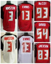 Wholesale Elite 13 - 2017 Elite 3 Jameis Winston 13 Mike Evans 93 Gerald McCoy 54 Lavonte David 83 Vincent Jackson Team Color Home Red Stitched Football Jerseys
