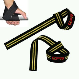 Wholesale building bracing - Wholesale- CFR 2PCS Pair Weight Lifting Hand Wrist Support Strap Brace Support Gym Straps Weight Lifting Wrap Body Building Grip Glove