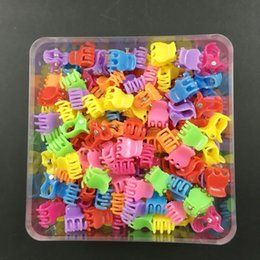 Wholesale Mini Hair Claws Wholesale - 180 Pcs  Box Mix-color 1cm Mini Claw Clips Children's Cartoon Hair Claws Baby Girls Accessories Ornaments Wholesale Free Shipping