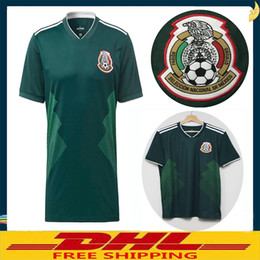Wholesale Flashing Shirts - DHL Free shipping 2018 Mexico Soccer Jersey Home 18 19 Mexico CHICHARITO Camisetas de futbol football shirts Size can be mixed batch