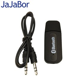 Wholesale Car Speakers Systems - Wholesale- JaJaBor Bluetooth USB A2DP Adapter Dongle Blutooth Music Audio Receiver Wireless Stereo Speaker 3.5mm For Car Home Stereo System