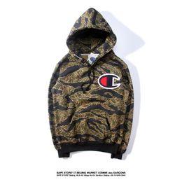 Wholesale Champions Brand - Harajuku Brand Men Women Lovers hoodie sweater Camouflage Coat Jacket Long Sleeve champions warm Hoodie Comfortable high quality