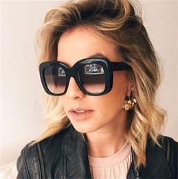 Wholesale Large Cat Eye Sunglasses - 2017 New Fashion Big Frame Style square Sunglasses women Brand Designer Luxury Sun Glasses Women's Shades large sunglasses Oculos De Sol
